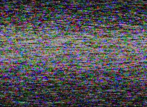 Static noise HI8 tape Footage