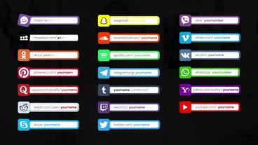 44 Social Media Lower Thirds モーショングラフィックステンプレート