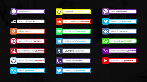 44 Social Media Lower Thirds