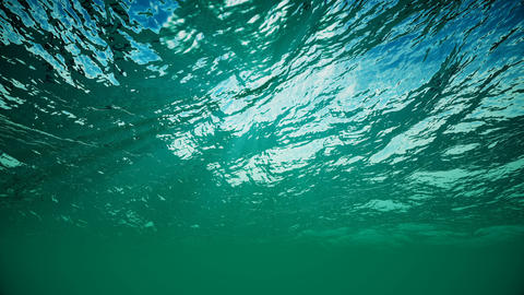 Animation of sea waves from underwater. Loopable Animation