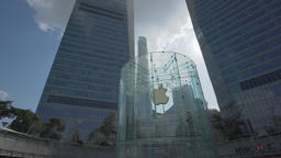 4k moving shot of Apple Store in Shanghai Footage