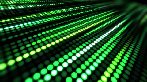many green dots moving abstract background Animation