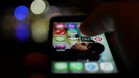 User logging into Bloomy app for meeting opposite sex online GIF