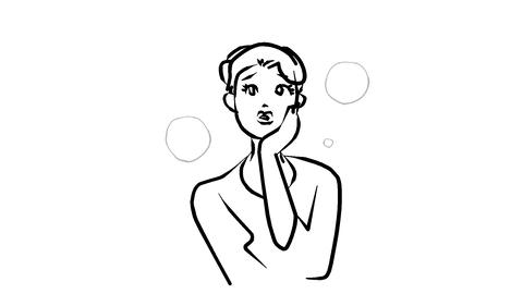 Woman-was-in-trouble Animation