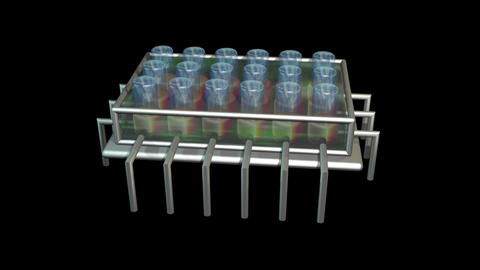 Physiomimetic technology. Organs on a chip. Seamless... Stock Video Footage