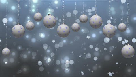 Holidays Animated Card with White Globes Loop Animation
