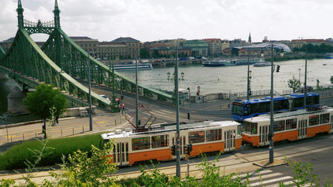 Budapest public transport Footage