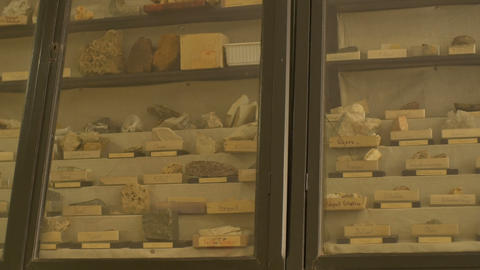 Closet with Various Geological Samples GIF