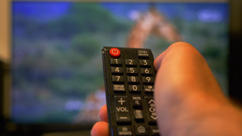Turning on the tv from the remote Live Action