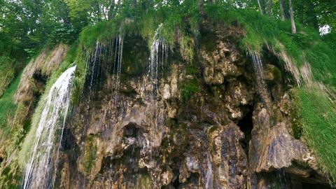 Waterfall on the big rocks Stock Video Footage