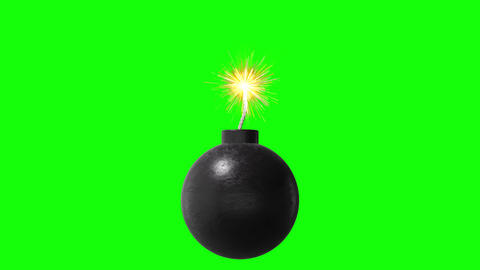BOMB BGcolors Green Black White HD Stock Video Footage