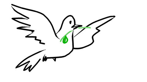 Dove-with-olive Animation