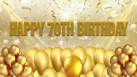 70th BIRTHDAY Title background Animation