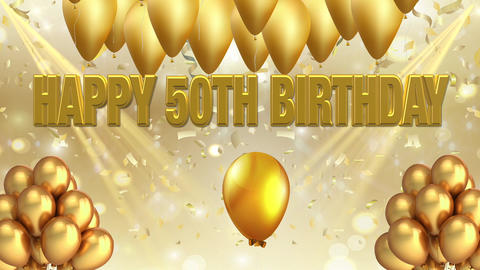 GOLDEN BIRTHDAY 50 GIF