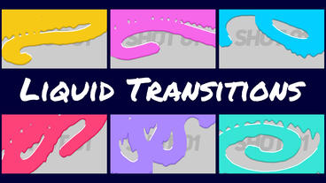 Cartoon Liquid Transitions Premiere Proテンプレート