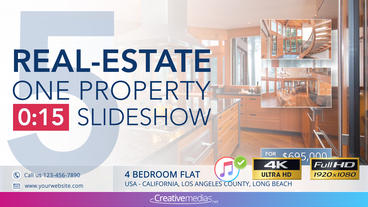 Real-Estate One Property 15s Slideshow 5 After Effects Template