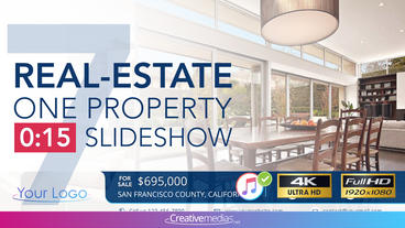 Real-Estate One Property 15s Slideshow 7 After Effects Template