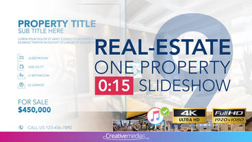 Real-Estate One Property 15s Slideshow 9 After Effects Template