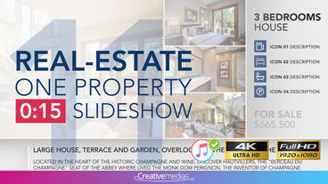 Real-Estate One Property 15s Slideshow 11 After Effects Template