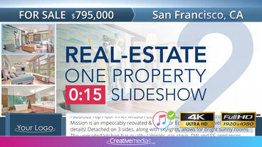 Real-Estate One Property 15s Slideshow 2 After Effects Template