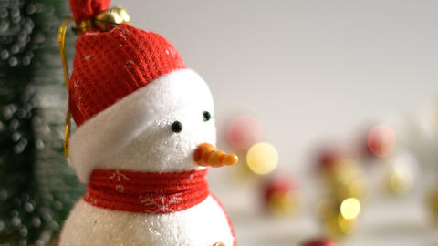 Snowman decoration in Christmas time Archivo