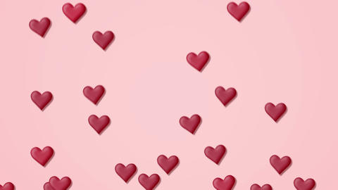 SerRed heart background on a pink background with alpha matteca alpha Animación