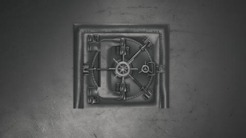 3d render Bank Vault And Opening Safe Photo