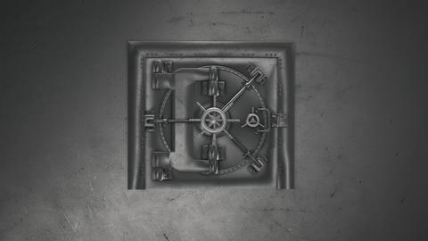 3d render Bank Vault And Opening Safe フォト