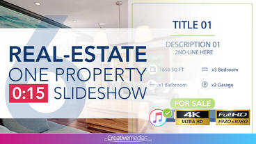 Real-Estate One Property 15s Slideshow 6 Apple Motion Template