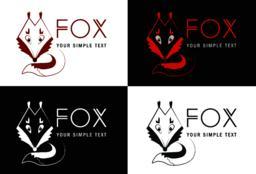Set of Fox logo ベクター