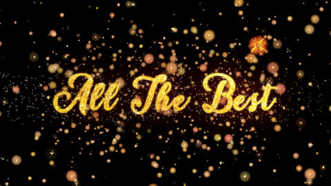 All The Best Abstract particles and glitter fireworks greeting card Animation