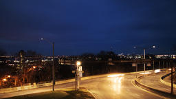 Time lapse of Car traffic at night in a city Time Lapse. Blurred car lights ビデオ
