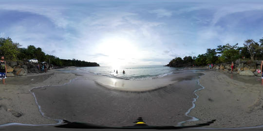 VR 360 Beach Guadeloupe Pointe Noire 360 VR Footage