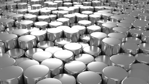 Background of Cylinders Animation
