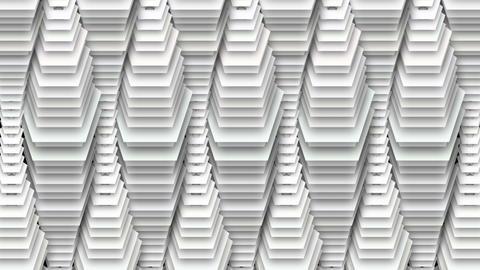 Abstract Pentagon White Curtain Decor Animation