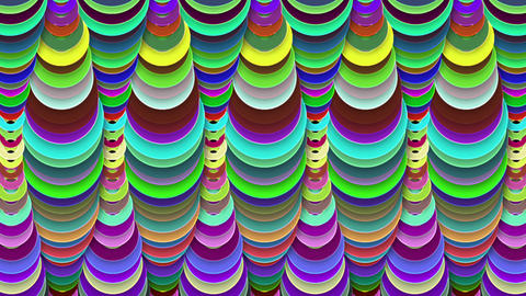 Abstract Multicolored Round Tube Decor Animation