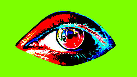Animation of human eye in bright colors Animation