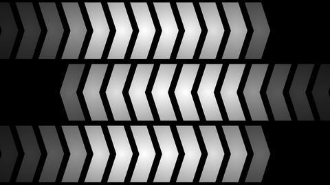 Led panel lights forming three ways Animation
