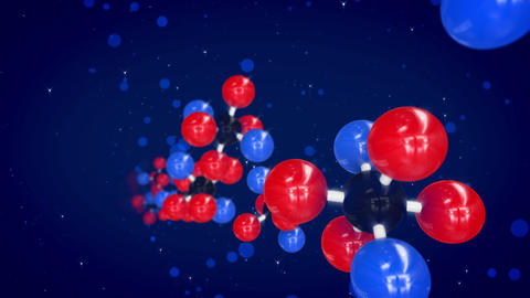 Colorful Molecular Structures Soaring Diagonally Animation
