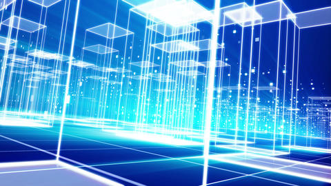 Futuristic Virtual City with Crystalline Homes Animation