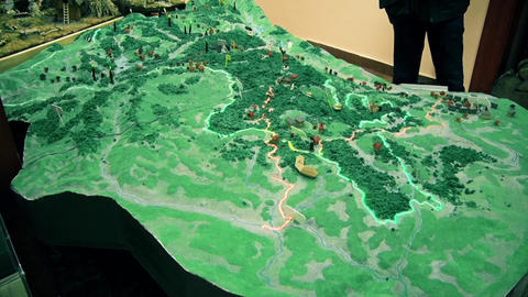 Model map of the hill in Europe Archivo