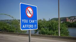 4K DUI Warning Sign Footage