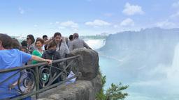 4K Tourists at Niagara Falls Canada Footage