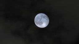 4K Real Full Moon in the Night Sky Footage