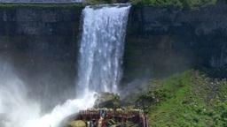 4K Niagara Falls Bridal Veil Falls Footage