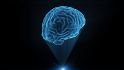 Brain hologram holographic projection projector sci-fi... Stock Video Footage