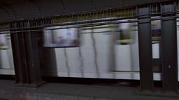 4K Toronto Subway Arrives at Dundas Street Platform Footage