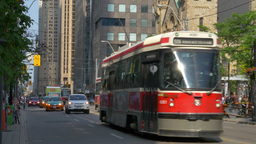 Toronto Trolleys on King Street Footage