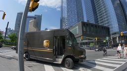 4K UPS Delivery Truck in Toronto Footage