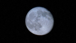 Real Full Moon in the Night Sky Footage